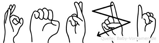 Ferzi im Fingeralphabet der Deutschen Gebärdensprache