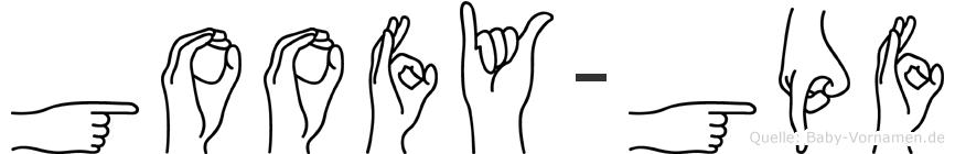 Goofy-Göpf im Fingeralphabet der Deutschen Gebärdensprache