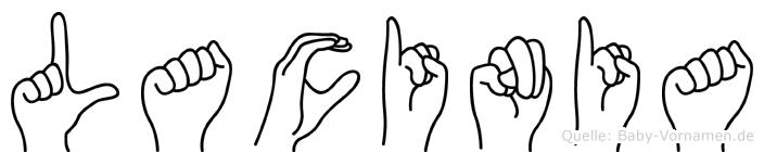 Lacinia in Fingersprache für Gehörlose