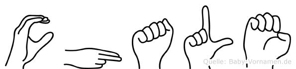 Chale in Fingersprache für Gehörlose