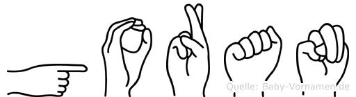 Goran in Fingersprache für Gehörlose