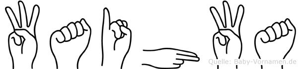 Waihwa in Fingersprache für Gehörlose