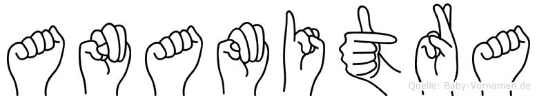 Anamitra im Fingeralphabet der Deutschen Gebärdensprache