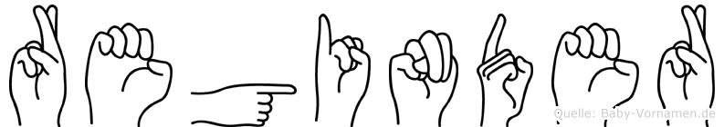 Reginder im Fingeralphabet der Deutschen Gebärdensprache