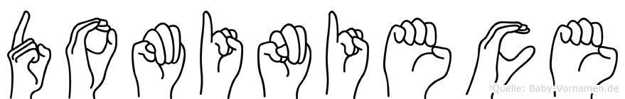 Dominiece im Fingeralphabet der Deutschen Gebärdensprache