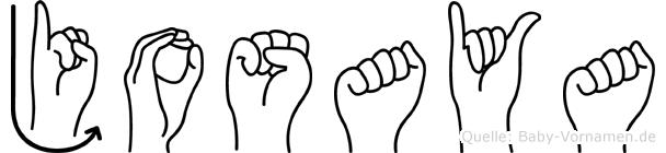 Josaya in Fingersprache für Gehörlose