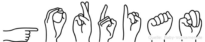 Gordian in Fingersprache für Gehörlose