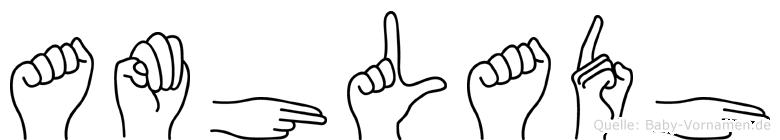 Amhladh im Fingeralphabet der Deutschen Gebärdensprache