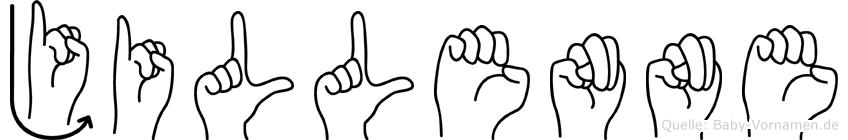 Jillenne im Fingeralphabet der Deutschen Gebärdensprache