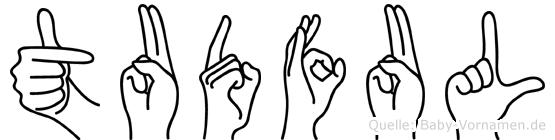 Tudful in Fingersprache für Gehörlose