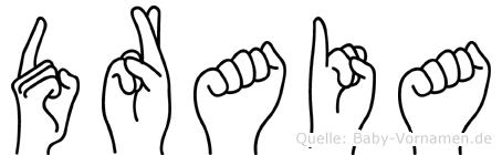 Draia in Fingersprache für Gehörlose