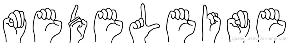 Medeleine in Fingersprache für Gehörlose