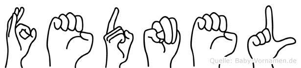 Fednel in Fingersprache für Gehörlose