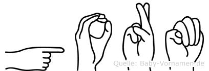 Gorm in Fingersprache für Gehörlose