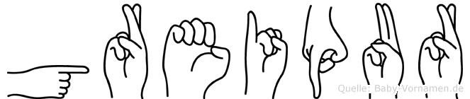 Greipur in Fingersprache für Gehörlose