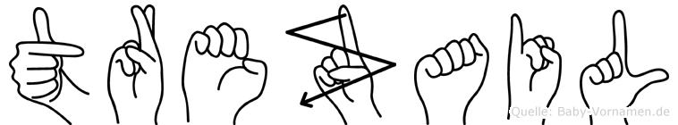 Trezail in Fingersprache für Gehörlose