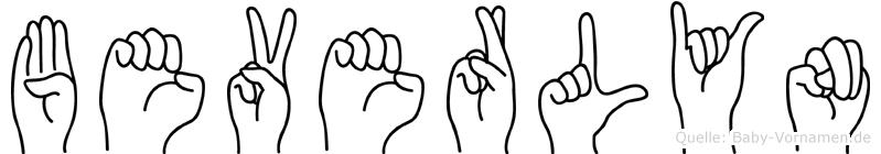 Beverlyn im Fingeralphabet der Deutschen Gebärdensprache