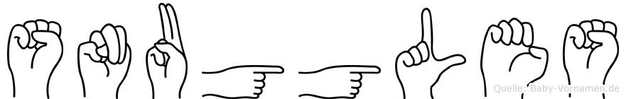 Snuggles in Fingersprache für Gehörlose