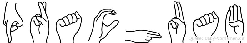 Prachuab im Fingeralphabet der Deutschen Gebärdensprache