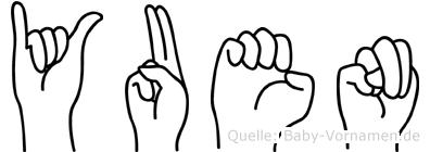 Yuen in Fingersprache für Gehörlose