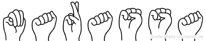 Marassa in Fingersprache für Gehörlose