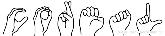 Coreal in Fingersprache für Gehörlose