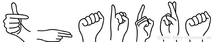 Thaidra in Fingersprache für Gehörlose
