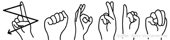 Zafrin im Fingeralphabet der Deutschen Gebärdensprache