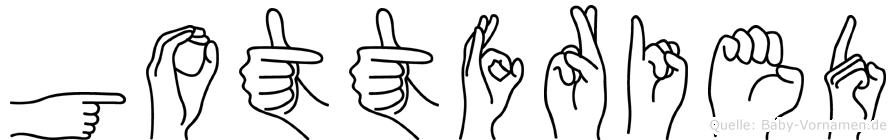 Gottfried in Fingersprache für Gehörlose