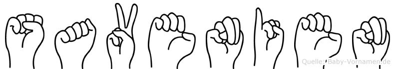Savenien in Fingersprache für Gehörlose