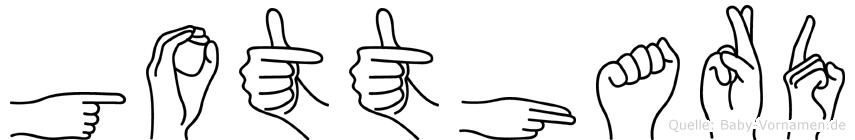 Gotthard im Fingeralphabet der Deutschen Gebärdensprache