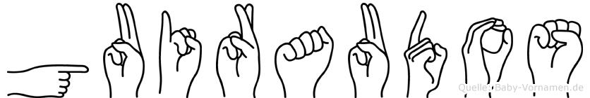 Guiraudos in Fingersprache für Gehörlose