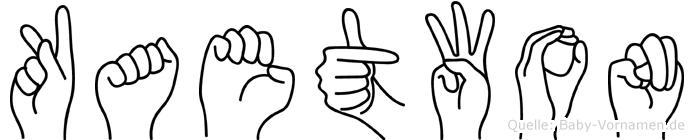 Kaetwon im Fingeralphabet der Deutschen Gebärdensprache