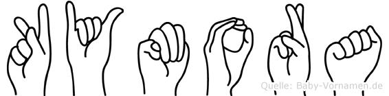 Kymora in Fingersprache für Gehörlose