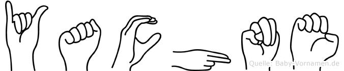 Yachne im Fingeralphabet der Deutschen Gebärdensprache
