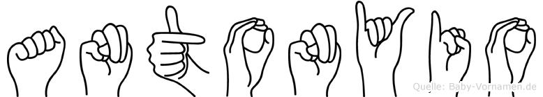 Antonyio in Fingersprache für Gehörlose