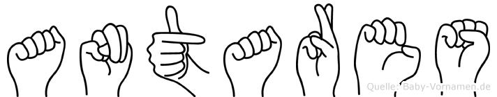 Antares in Fingersprache für Gehörlose