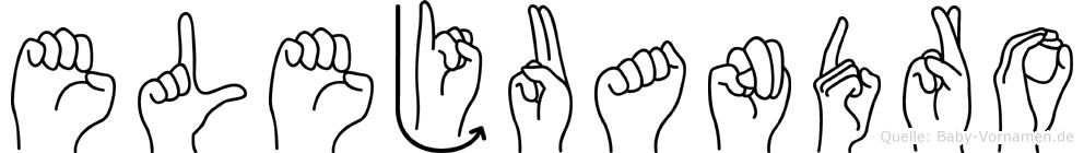 Elejuandro im Fingeralphabet der Deutschen Gebärdensprache