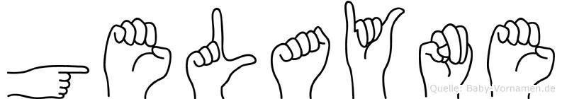 Gelayne im Fingeralphabet der Deutschen Gebärdensprache