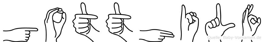 Gotthilf in Fingersprache für Gehörlose