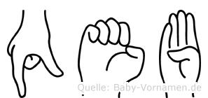 Qeb in Fingersprache für Gehörlose