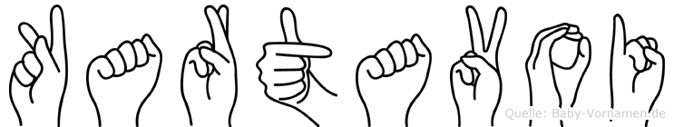 Kartavoi im Fingeralphabet der Deutschen Gebärdensprache
