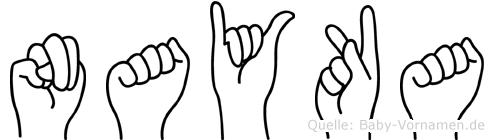 Nayka im Fingeralphabet der Deutschen Gebärdensprache