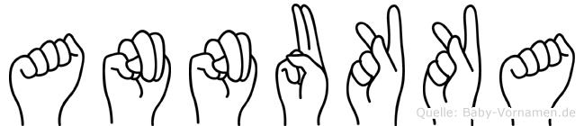 Annukka im Fingeralphabet der Deutschen Gebärdensprache