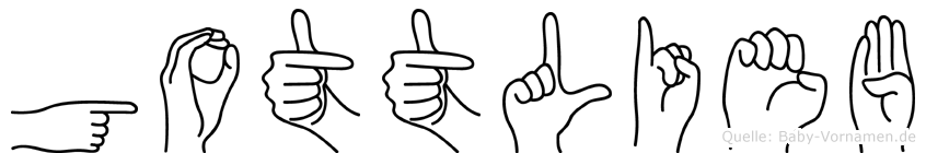 Gottlieb in Fingersprache für Gehörlose