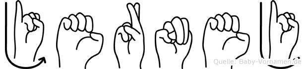 Jernej in Fingersprache für Gehörlose