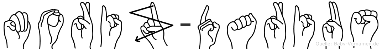 Moriz-Darius im Fingeralphabet der Deutschen Gebärdensprache