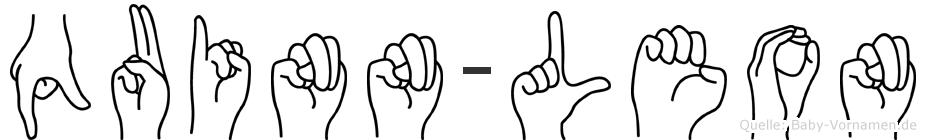 Quinn-Leon im Fingeralphabet der Deutschen Gebärdensprache