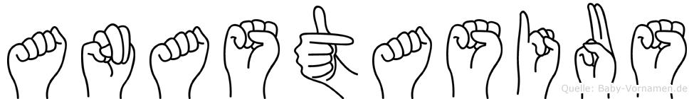 Anastasius in Fingersprache für Gehörlose