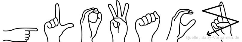 Glowacz in Fingersprache für Gehörlose